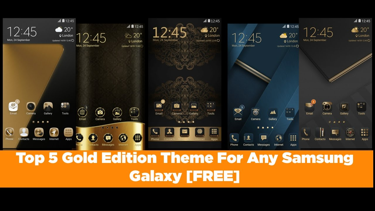 Top 5 Gold Theme For Any Samsung Galaxy Device [FREE]
