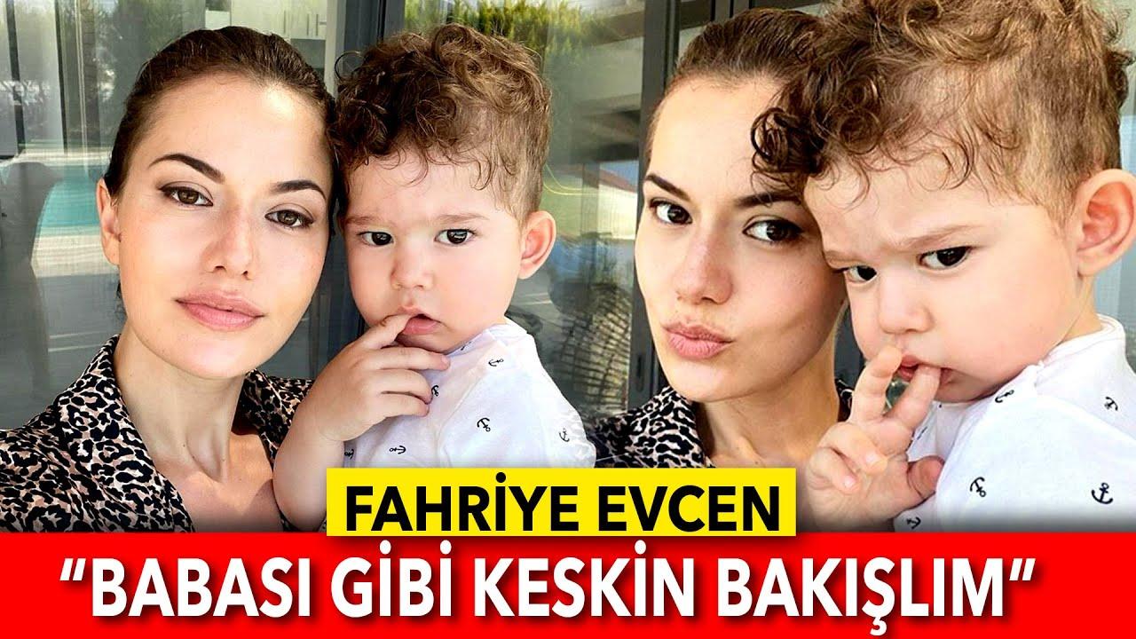 """FAHRİYE EVCEN OĞLU KARAN İLE FOTOĞRAFINI """"BABASI GİBİ KESKİN BAKIŞLIM"""" NOTUYLA PAYLAŞTI"""