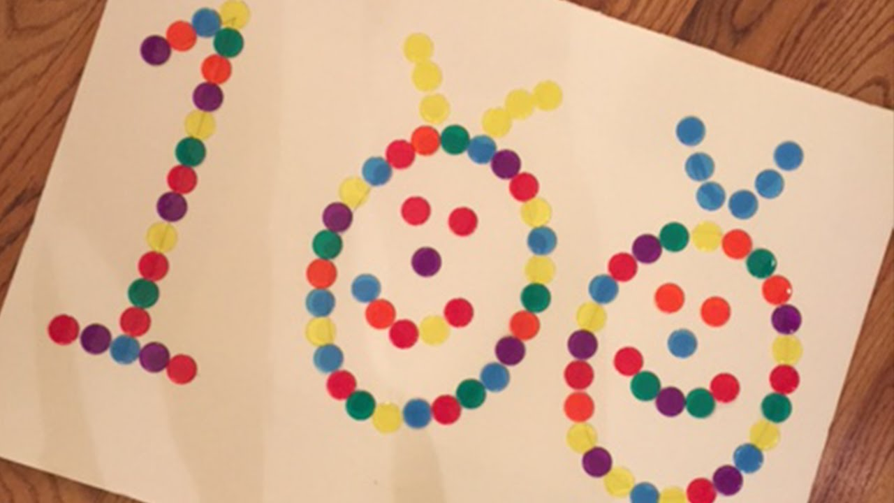 100th Day of School Project - YouTube