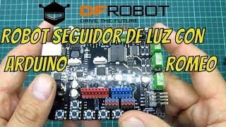 🔦 Robot Seguidor de luz con Arduino Romeo - DFRobot 💡