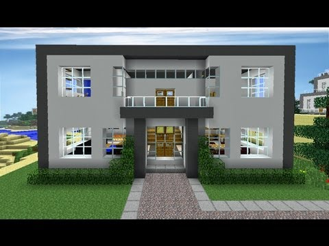 Minecraft episode 95 huge modern house youtube for Big modern houses pictures