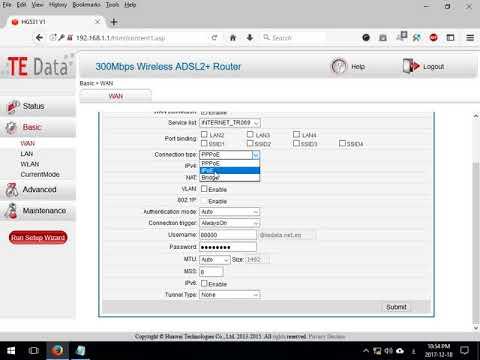 تحويل راوتر TE Data HG531 V1 لراوتر برودباند