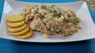 The Best Seafood Pasta Salad Recipe