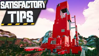 My TOP 5 Satisfactory Mega Base Tips!