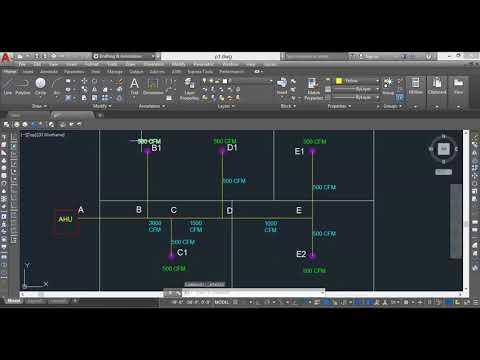 HVAC - DUCT SIZING Part-1(Flow calculation)