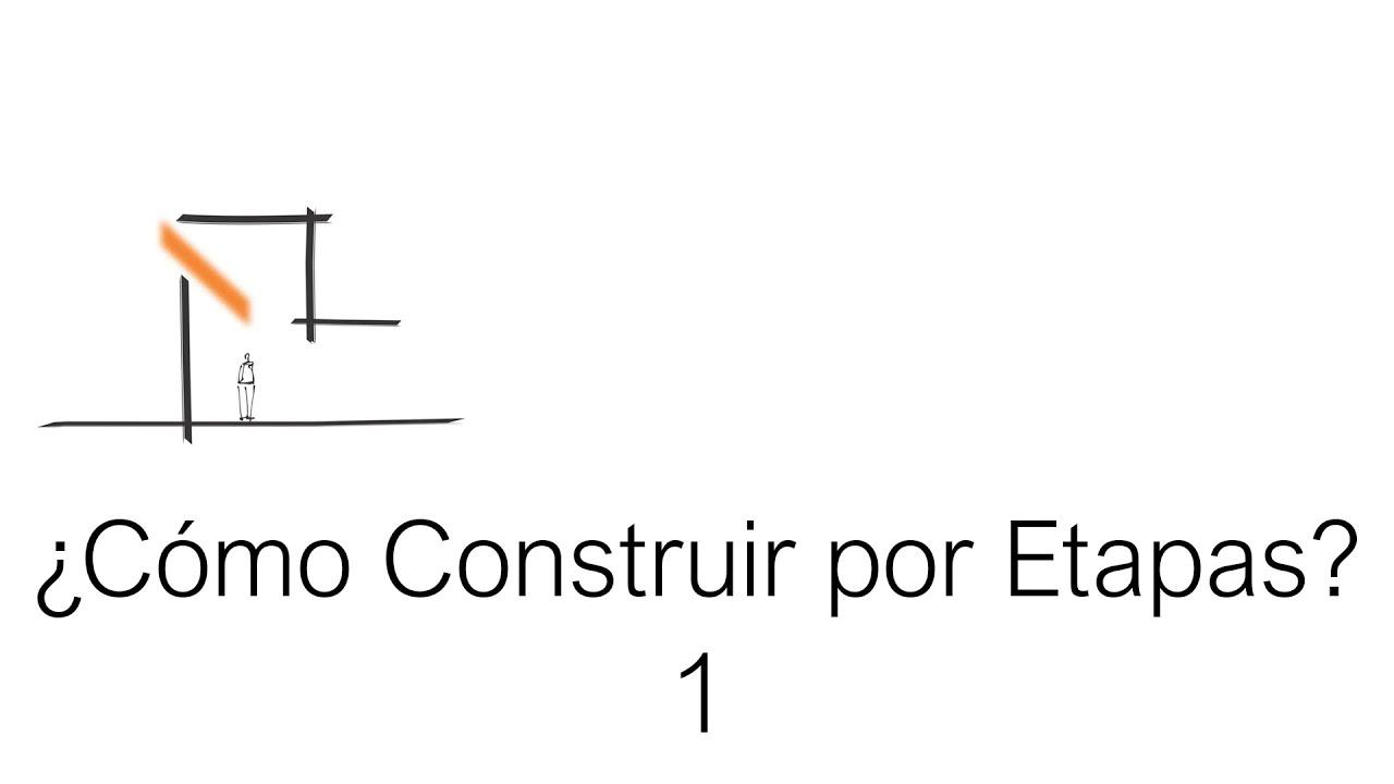 C mo construir en etapas dise o de casas y viviendas - Como hacer un plano de una casa ...