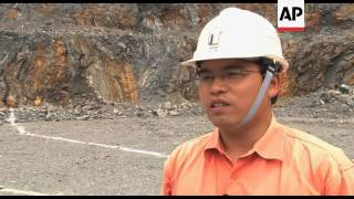 Gold mining practices at south western China mine