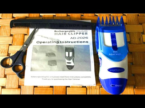 Unboxing HAIR CLIPPER _ HAIR CLIPPER Rechargeable washable _ ASMR Unboxing