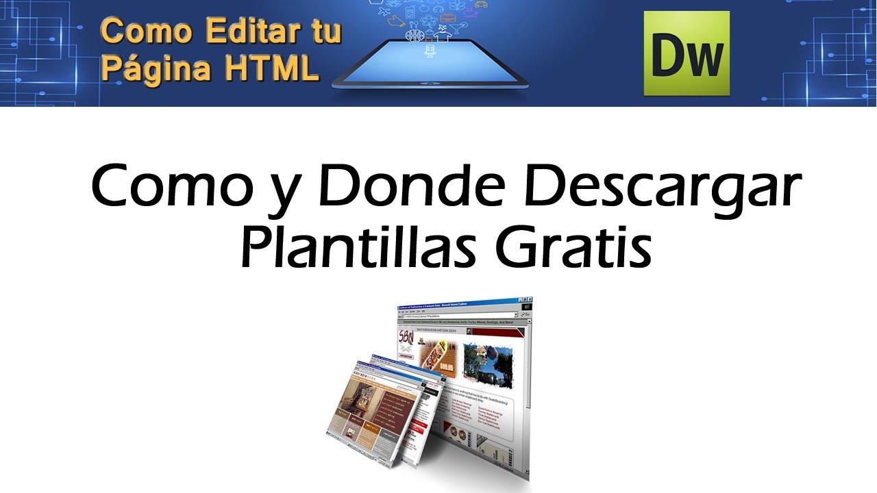 2 Como Buscar y Descargar Plantillas HTML Gratis bien explicado ...