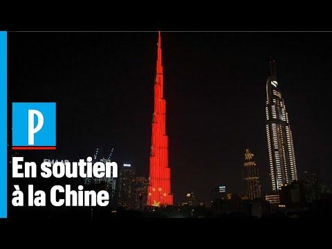 Coronavirus: la plus haute tour du monde passe aux couleurs de la Chine