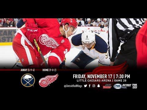 NHL 18 PS4. REGULAR SEASON 2017-2018: Buffalo SABRES VS Detroit RED WINGS. 11.17.2017. (NBCSN) !