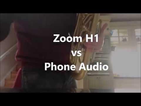 Zoom H1 Recorder Vs Mobile Phone Test