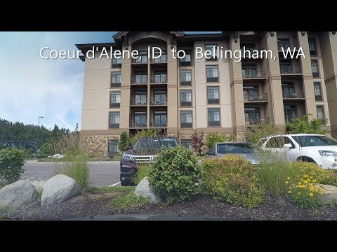 Driving timelapse from Coeur d'Alene, ID to Bellingham, WA.