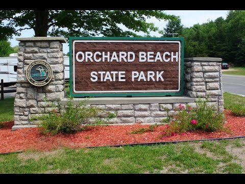 Camping at Orchard Beach State Park near Manistee, Mi.