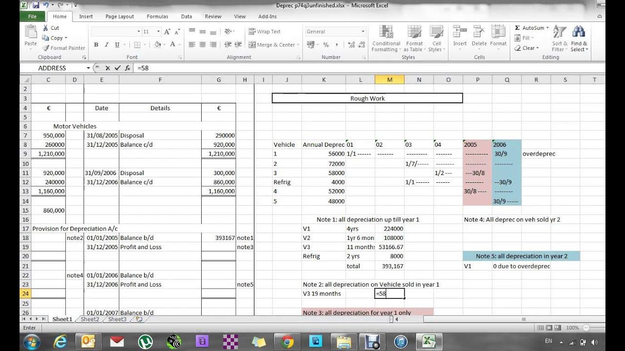 leaving cert straight line depreciation p74q3 part 2