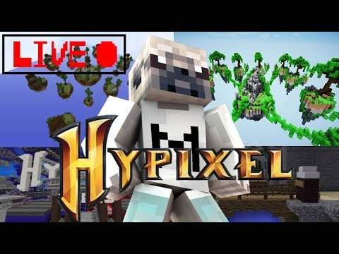 Minecraft Hypixel LIVE w/ Fans! Come Join the Fun! /p join PugMax OPEN  PARTY 11 Hour LIVESTREAM!