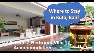 Gambar cover My Two Bedroom Villa Accommodation in Kuta, Bali (Indonesia) #Bali #Kuta #VillaAccommodation