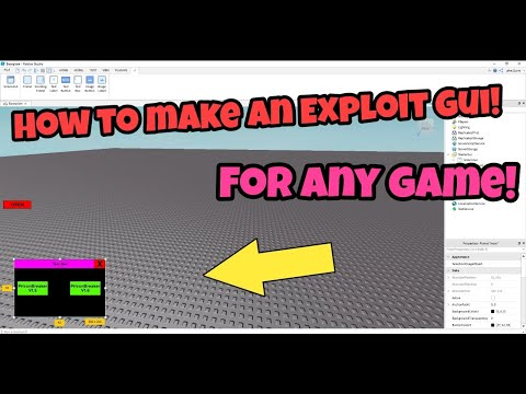How To Make A Roblox Exploit GUI (Easy) 2019 For *Any* Game!