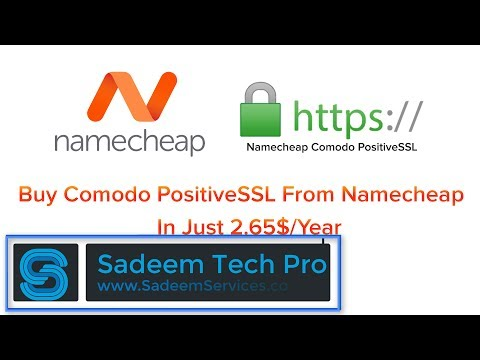 Buy Comodo Positive SSL From Namecheap In Just 2.65$ (Save 6.35$)