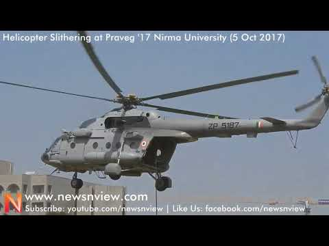 Garud Helicopter Slithering Indian Air Force at Nirma University | Air Show 2017