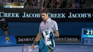 R.Federer Vs J.W.Tsonga Australian Open 2013 QF