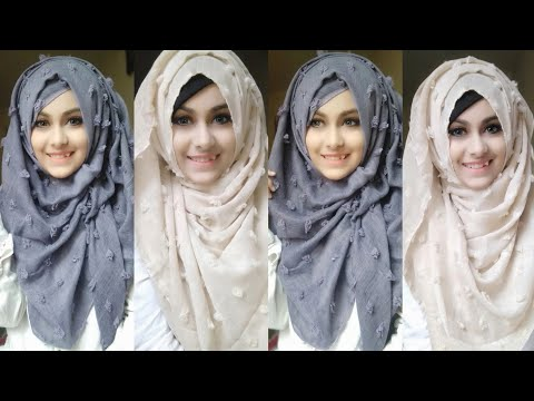 Easy And Casual Hijab Tutorial For Everyday Wear || Noshin Nower ❤