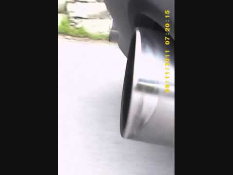 Alfa Romeo Giulietta 16 tuned exhaust run