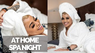 Esthetician Spa Night At Home | Self Care Pamper Routine | Taj Mahaly Vlogmas