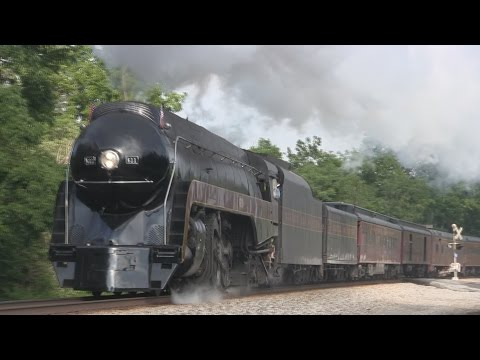 N&W 611 heads the Powhatan Arrow to Lynchburg