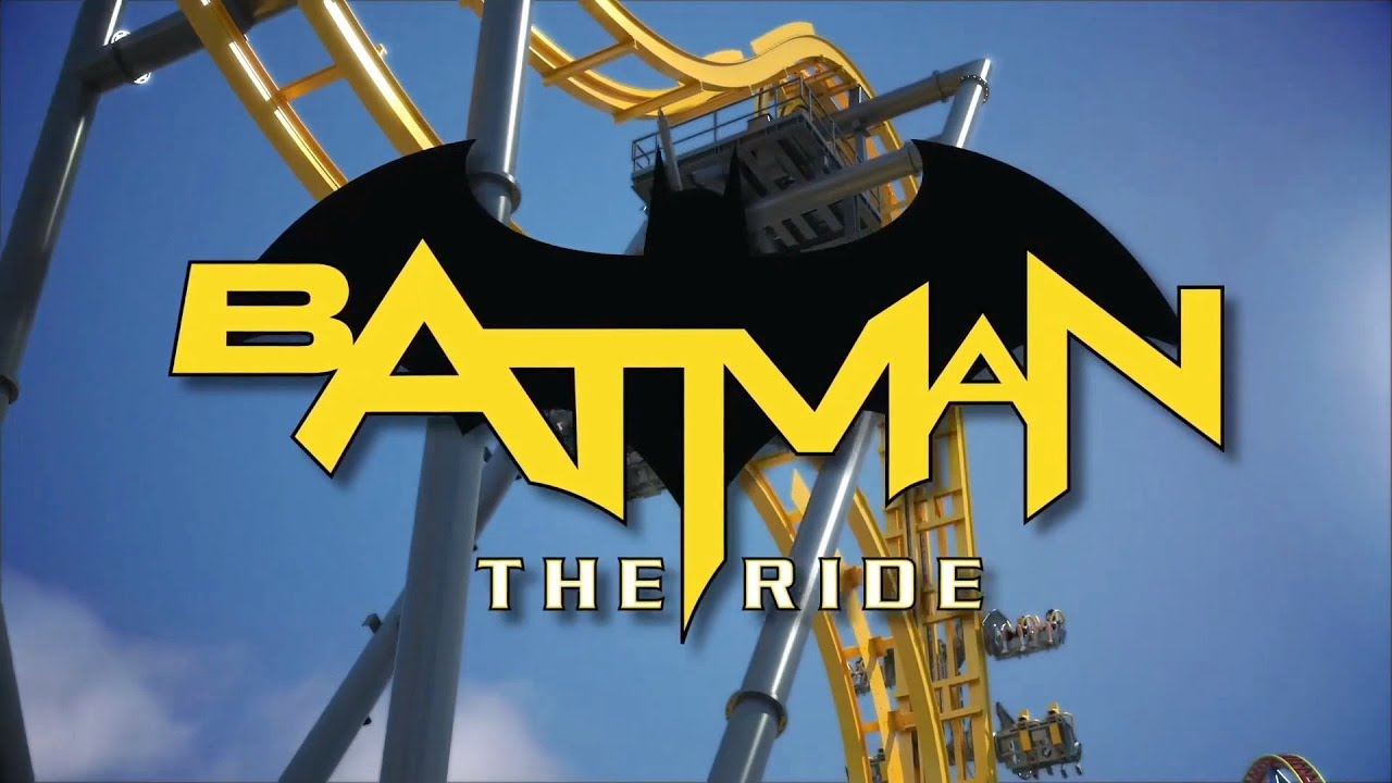 Batman: The Ride new-for-2019 Six Flags Discovery Kingdom animation