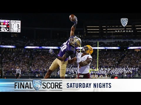 Highlights: No. 6 Washington defeats Arizona State in lit Husky Stadium