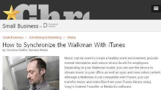 How Do I Download Music From Itunes To A Sony Walkman MP3 On A Mac?