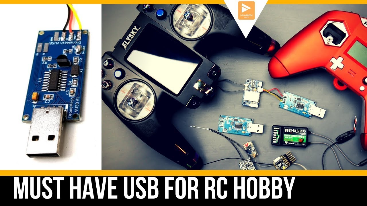 DroneMesh ALL-IN-ONE USB // How Play Wireless with Any RC Transmitter