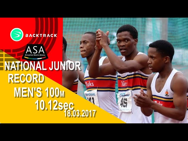 Gift Leotlela runs SA junior 100m record