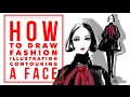 How to Draw a Fashion Illustration for Beginners Contouring a Face on Procreate App