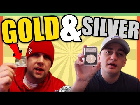 GOLD BAR AND 1 OUNCE SILVER COIN GIVEAWAY WITH SILVER SEEKER - VALUABLE COINS!!