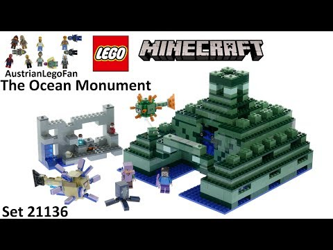 Lego Minecraft 21136 The Ocean Monument - Lego Speed Build Review