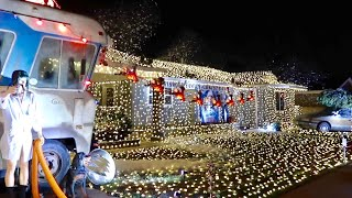 The Christmas Vacation House & Cousin Eddie's RV  Griswold Family Christmas Recreation and Lights