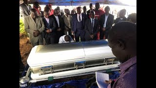 Watch Tsvangirai's Burial: Coffin Lowered Down
