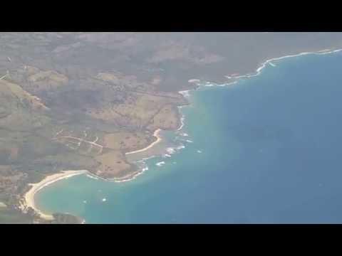 Flying Over North Coast of Dominican Republic Landing At Gregorio Luperon Airport Puerto Plata POP