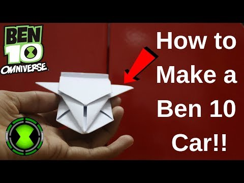 How to Make an Origami Ben 10 Car | At Home | Easy DIY | Dr. CraZy ScieNce