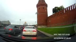 Driving in Moscow agglomeration: Текстильщики - Филёвский Парк - Красногорск 30/09/2016 timelapse 4x