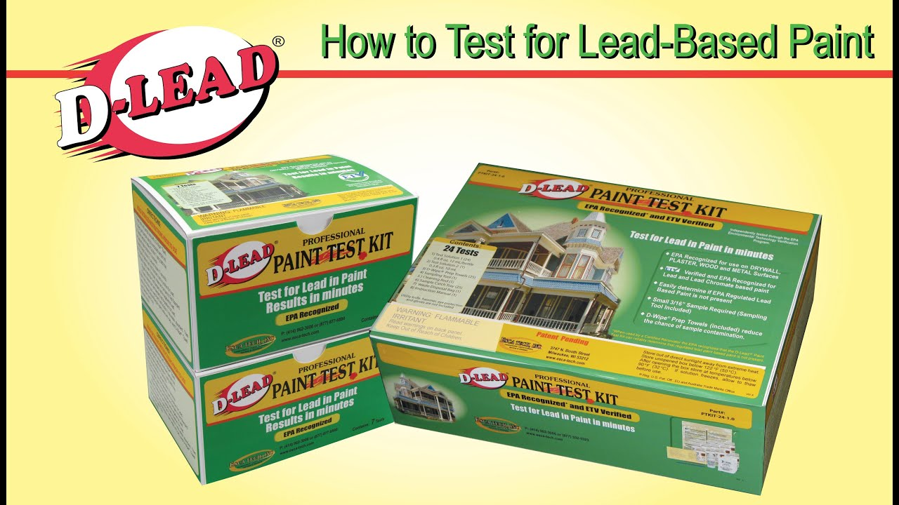 test for lead paint with the d lead paint test kit youtube. Black Bedroom Furniture Sets. Home Design Ideas