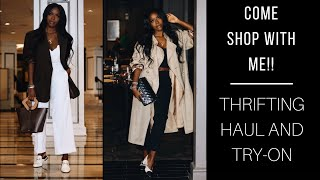 Thrifting Haul and Try On: Come Shopping With Me