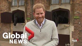 Prince Harry says he and Meghan Markle had a baby boy