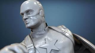Avengers Scene - Captain America Figurine for 3D Printing