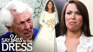 Bride Wants A New Gown Instead Of Her Aunt's Dress From The 70s | Say Yes To The Dress Atlanta