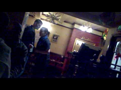 Kirsty dancing with random drunk!