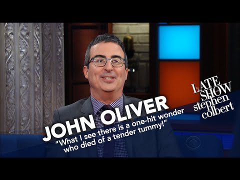 John Oliver And Stephen Make Wax Presidents Fight To The Death