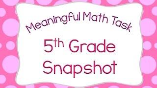 5th Grade Meaningful Math Task